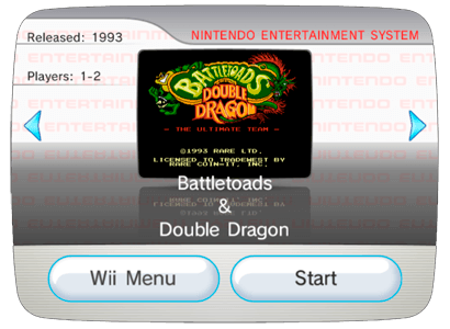 Battletoads and Double Dragon - The Ultimate Team для Nintendo Wii (Virtual Console Wad)