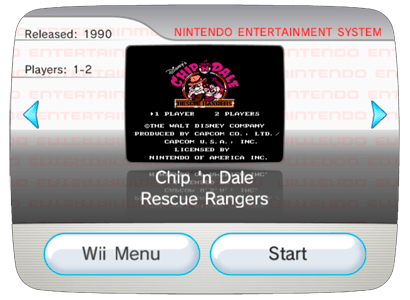 Chip 'n Dale Rescue Rangers для Nintendo Wii (Virtual Console Wad)