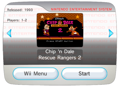 Chip 'n Dale Rescue Rangers 2 для Nintendo Wii (Virtual Console Wad)