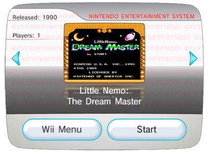 Little Nemo: The Dream Master для Nintendo Wii (Virtual Console Wad)