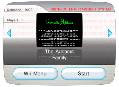 Addams Family, The (Rus) для Nintendo Wii (Virtual Console Wad)